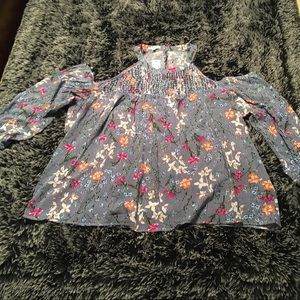 NWT Maurices cold shoulder top floral stripe. 3X